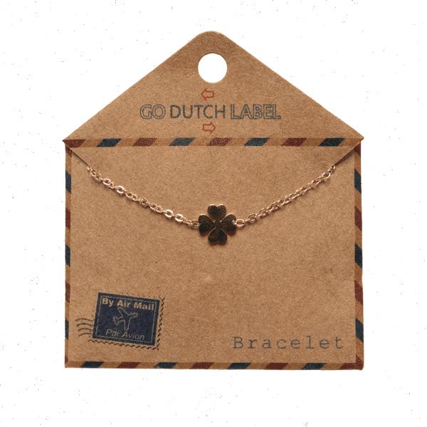 Made by Mila | Armband dichte klaver rose goud - Go Dutch Label 3