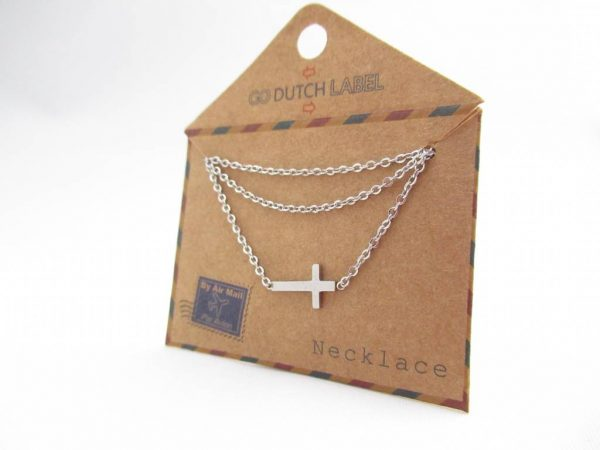 Made by Mila | Ketting kruisje zilver - Go Dutch Label 3