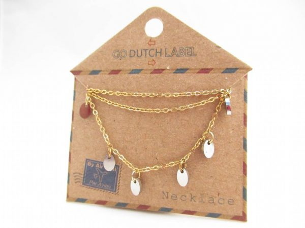 Made by Mila | Ketting coins goud/zilver - Go Dutch Label 2