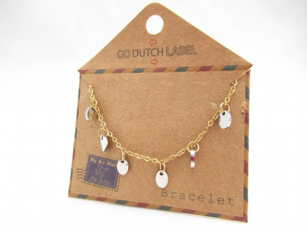 Made by Mila | Armband coins goud/zilver - Go Dutch Label 1