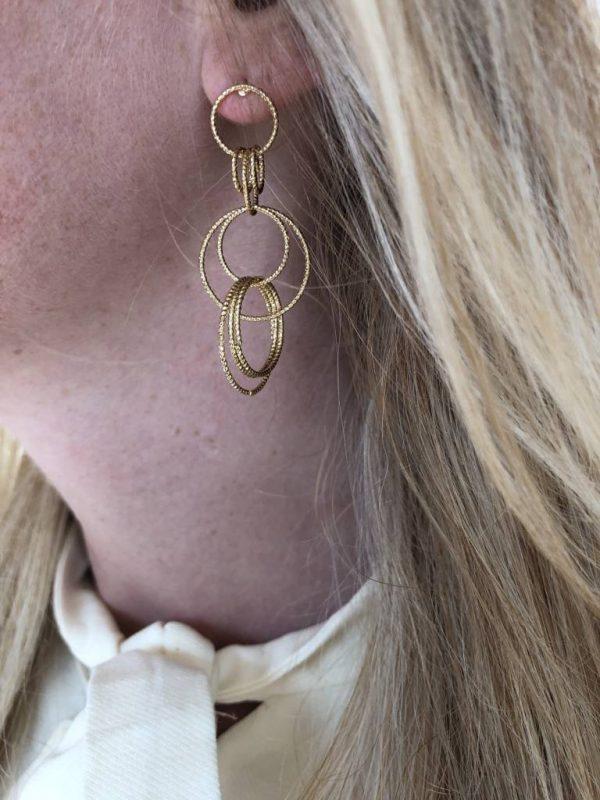 Made by Mila | Oorbellen bijoux cirkels zilver - Go Dutch Label 2