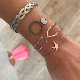 Armband zwaluw rose goud – Go Dutch Label