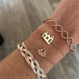 Armbanden vlecht rose goud – Go Dutch Label