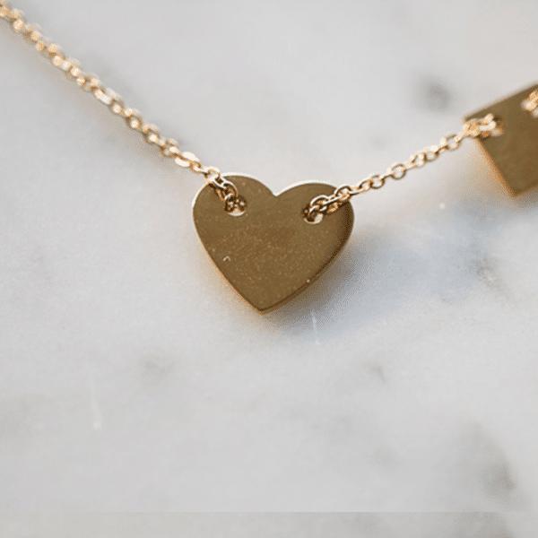 Made by Mila | Ketting hartje goud - ZAG Bijoux 2