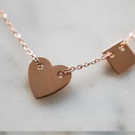 Ketting hartje rose goud – ZAG Bijoux