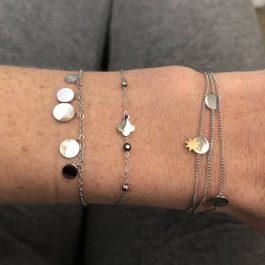 Dubbele armband ZAG Bijoux – Sun coins zilver