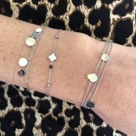 Armband 5 coins zilver – ZAG Bijoux