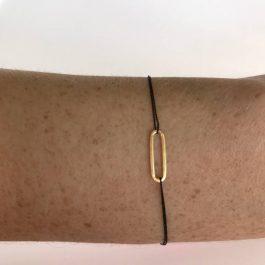 Geluksarmband Jukserei – Lupe Nude (24K goud)