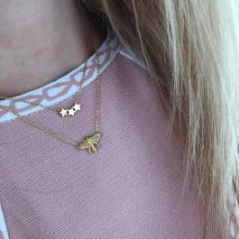 Ketting stars rose goud – Go Dutch Label