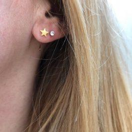 Oorbellen earhugger ster goud – ZAG Bijoux