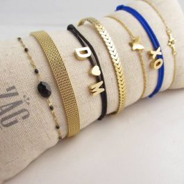 Armband met initialen- Custom Made by Mila