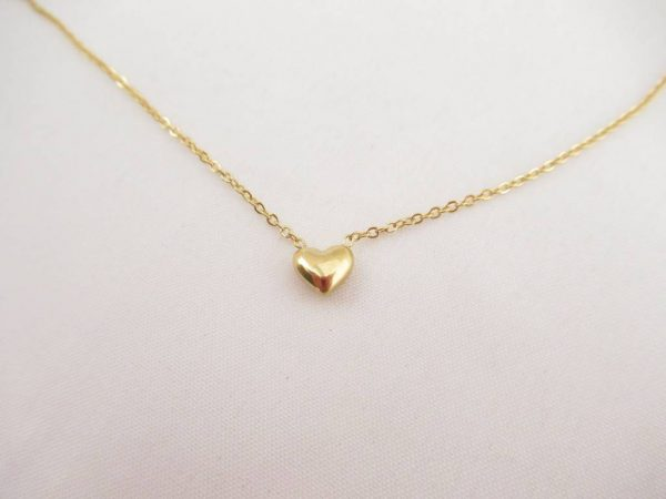 Made by Mila | Ketting 3d hartje goud - Go Dutch Label 2