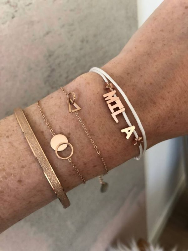 Made by Mila | Armband met initialen- Custom Made by Mila 2