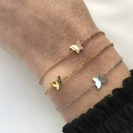 Armbanden vlinder rose goud – Go Dutch Label