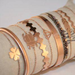 Armband klavertje vier rose goud – ZAG Bijoux