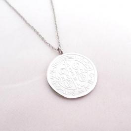 Ketting big coin zilver – ZAG Bijoux