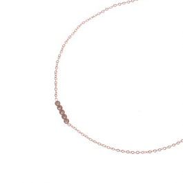 Kettingen swarovski rose goud – Go Dutch Label