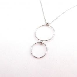 Kettingen cirkels zilver (lang) – Go Dutch Label