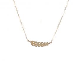 Ketting liggende veer goud – ZAG Bijoux