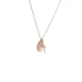 Ketting schelp north star goud – ZAG Bijoux