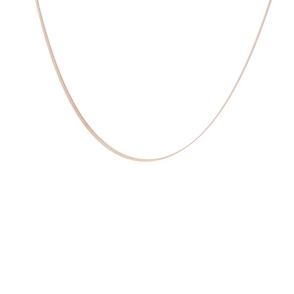 Made by Mila | Flat snake ketting goud - ZAG bijoux 1