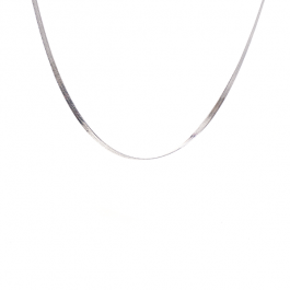 Flat snake ketting zilver – ZAG bijoux