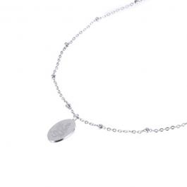 Ketting medaillon klein met slang zilver – Go Dutch Label