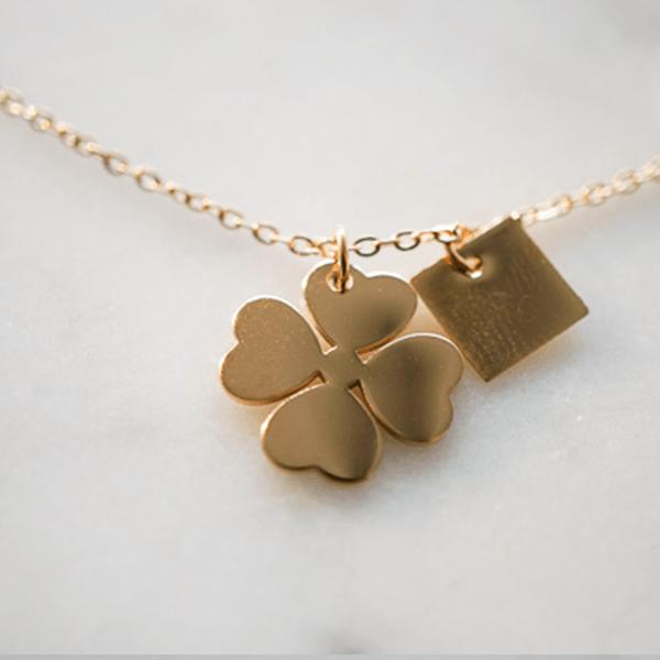 Made by Mila | Ketting klavertje vier goud - ZAG Bijoux 2