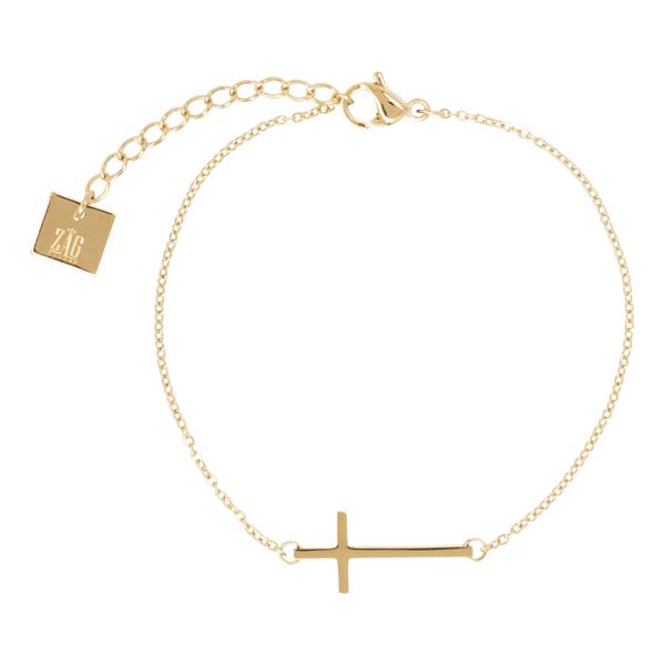 kruisje-goud-armband-zag-Bijoux