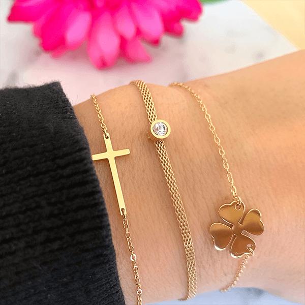 Made by Mila | Armband kruisje goud - ZAG Bijoux 1