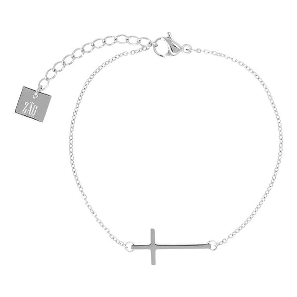 kruisje-zilver-armband-zag-Bijoux