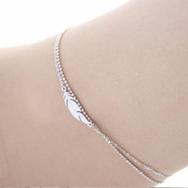 Enkelbandje liggende veer zilver – ZAG Bijoux