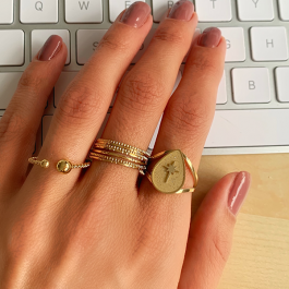Ring north star nude – ZAG Bijoux