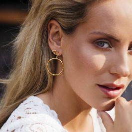 Triple dots gold -Eline Rosina oorbellen