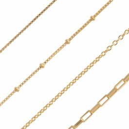 Zirconia dots necklace gold – Eline Rosina