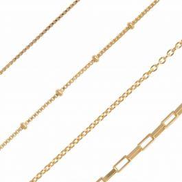 Zirconia dots necklace gold – Eline Rosina