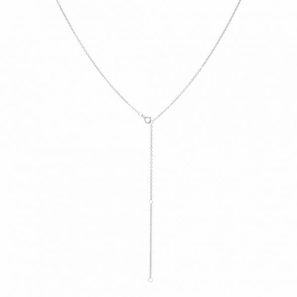 Made by Mila | Black zirconia eye necklace gold - Eline Rosina ketting 5