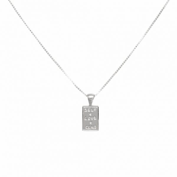 Made by Mila | Eline Rosina ketting - Self love club necklace sterling silver 1