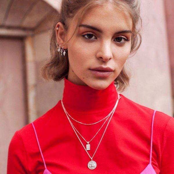 Made by Mila | Black zirconia eye necklace gold - Eline Rosina ketting 4