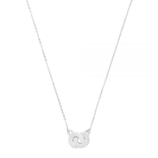 Made by Mila | Cartier two rings zilver ketting - ZAG Bijoux 1