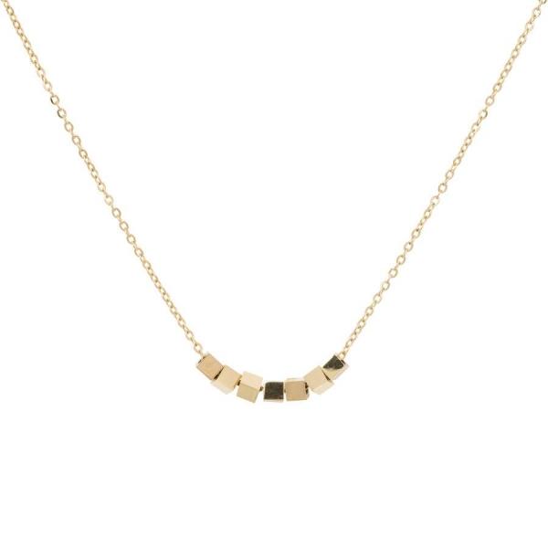 Made by Mila | Ketting kubus/cubes goud - ZAG Bijoux 1