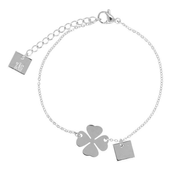 Made by Mila | Armband Klavertje zilver - ZAG Bijoux 1
