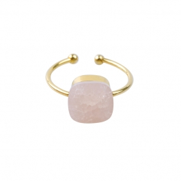 Ring roze steen goud – Mila