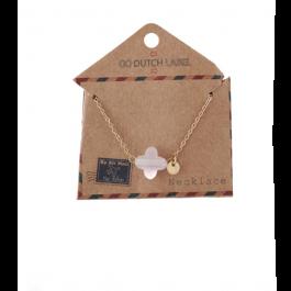 Ketting klaver roze goud – Go Dutch Label