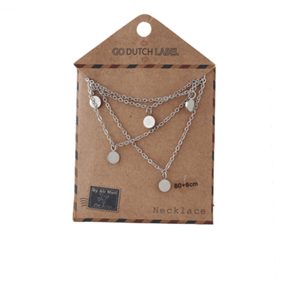 Made by Mila | Kettingen Coins ketting lang zilver Go Dutch Label 4