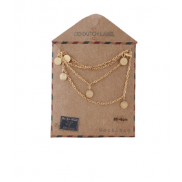 Ketting coins lang rose goud – Go Dutch Label
