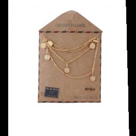 Ketting coins lang rose goud – Go Dutch Label