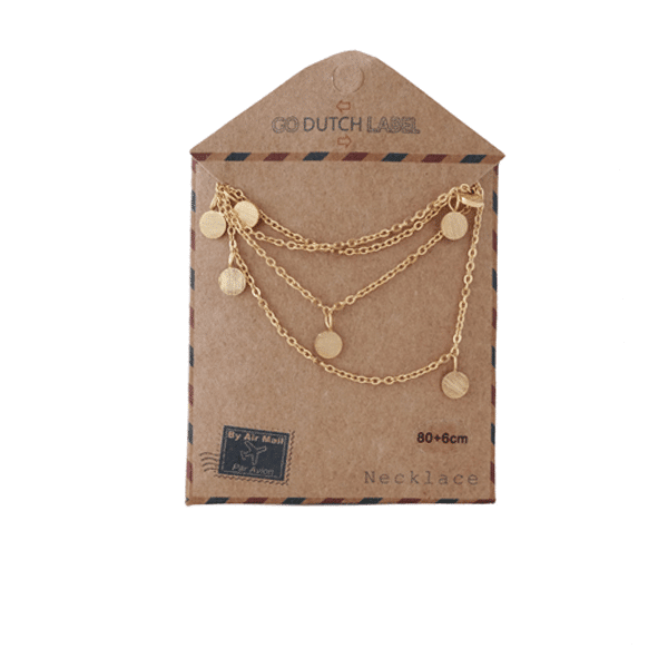 Made by Mila | Ketting coins lang rose goud - Go Dutch Label 2