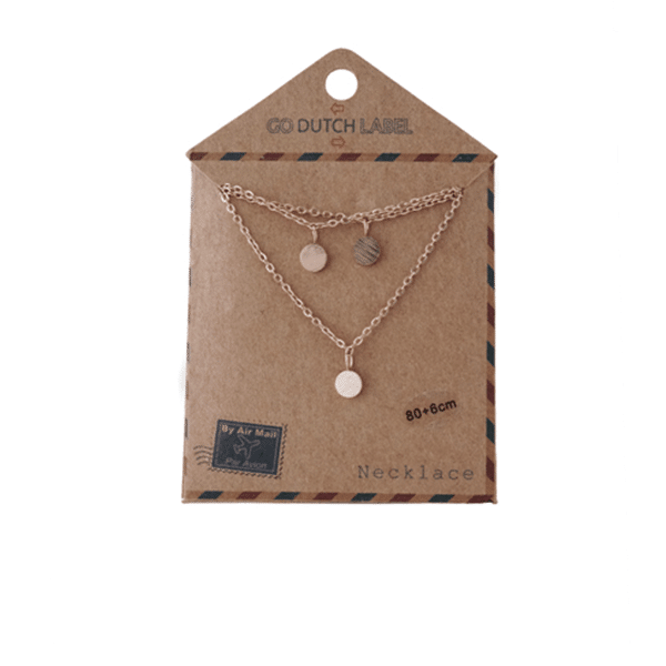 Made by Mila | Ketting coins lang goud - Go Dutch Label 2