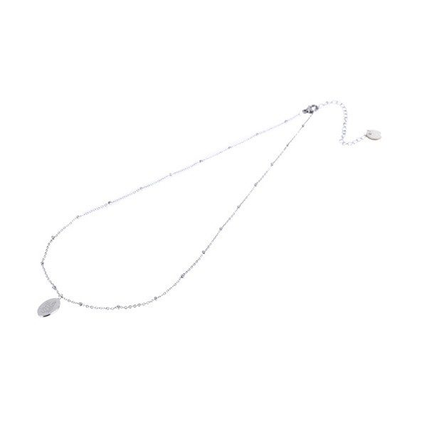 Made by Mila | Ketting medaillon klein met slang zilver - Go Dutch Label 3